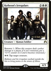 Kytheon's Irregulars, Magic: The Gathering, Prerelease Cards