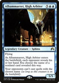 Alhammarret, High Arbiter, Magic: The Gathering, Prerelease Cards