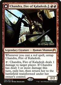 Chandra, Fire of Kaladesh, Magic: The Gathering, Prerelease Cards