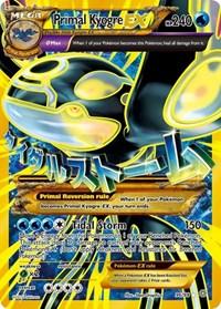 Primal Kyogre EX (Shiny Full Art), Pokemon, XY - Ancient Origins