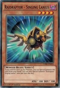 Raidraptor - Singing Lanius, YuGiOh, Clash of Rebellions