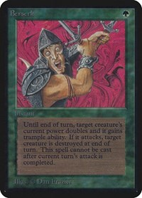 Berserk, Magic, Alpha Edition