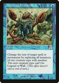 Artificial Evolution, Magic: The Gathering, Onslaught