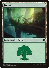 Forest (38), Magic: The Gathering, Duel Decks: Zendikar vs. Eldrazi