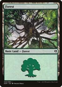 Forest (40), Magic: The Gathering, Duel Decks: Zendikar vs. Eldrazi