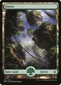 Forest (271) - Full Art, Magic: The Gathering, Battle for Zendikar