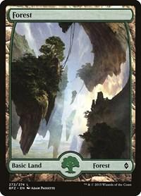 Forest (272) - Full Art, Magic: The Gathering, Battle for Zendikar