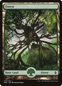 Forest (273) - Full Art, Magic: The Gathering, Battle for Zendikar