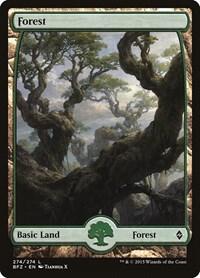 Forest (274) - Full Art, Magic: The Gathering, Battle for Zendikar
