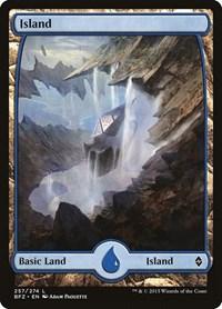 Island (257) - Full Art, Magic: The Gathering, Battle for Zendikar