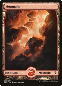 Mountain (265) - Full Art, Magic: The Gathering, Battle for Zendikar