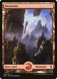 Mountain (266) - Full Art, Magic: The Gathering, Battle for Zendikar