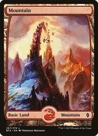 Mountain (267) - Full Art, Magic: The Gathering, Battle for Zendikar