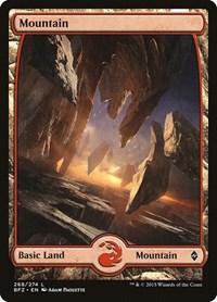 Mountain (268) - Full Art, Magic: The Gathering, Battle for Zendikar