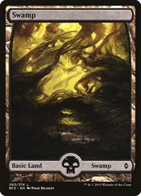 Swamp (260) - Full Art, Magic: The Gathering, Battle for Zendikar