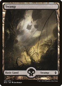 Swamp (261) - Full Art, Magic: The Gathering, Battle for Zendikar