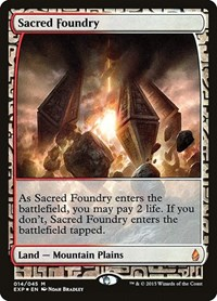 Sacred Foundry, Magic: The Gathering, Zendikar Expeditions