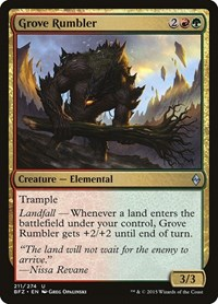 Grove Rumbler, Magic: The Gathering, Battle for Zendikar