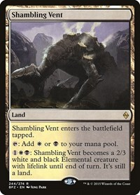 Shambling Vent, Magic: The Gathering, Battle for Zendikar