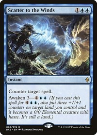Scatter to the Winds, Magic: The Gathering, Battle for Zendikar