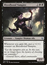 Bloodbond Vampire, Magic: The Gathering, Battle for Zendikar