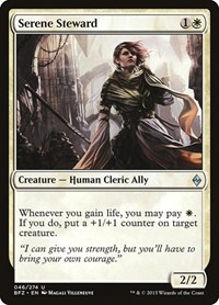 Serene Steward, Magic: The Gathering, Battle for Zendikar