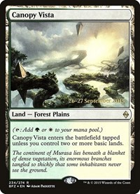 Canopy Vista, Magic: The Gathering, Prerelease Cards