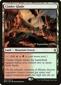 Cinder Glade, Magic: The Gathering, Prerelease Cards