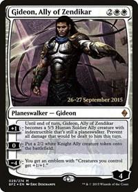 Gideon, Ally of Zendikar, Magic: The Gathering, Prerelease Cards