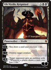Ob Nixilis Reignited, Magic: The Gathering, Prerelease Cards