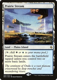 Prairie Stream, Magic: The Gathering, Prerelease Cards