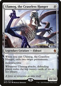 Ulamog, the Ceaseless Hunger, Magic: The Gathering, Prerelease Cards