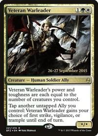 Veteran Warleader, Magic: The Gathering, Prerelease Cards