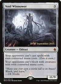 Void Winnower, Magic: The Gathering, Prerelease Cards