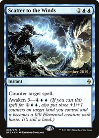 Scatter to the Winds, Magic: The Gathering, Prerelease Cards