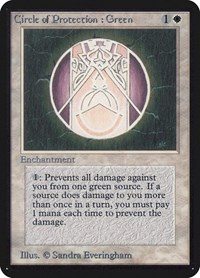 Green MTG Revised Unplayed Magic The Gathering 4x Circle of Protection