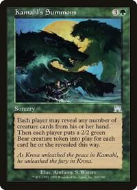 Kamahl's Summons, Magic, Onslaught