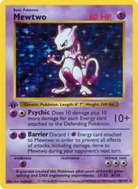 Mewtwo, Pokemon, Base Set (Shadowless)