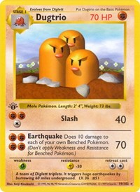 Dugtrio, Pokemon, Base Set (Shadowless)