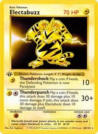 Electabuzz, Pokemon, Base Set (Shadowless)