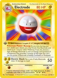 Electrode, Pokemon, Base Set (Shadowless)