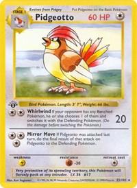Pidgeotto, Pokemon, Base Set (Shadowless)
