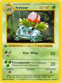 Ivysaur, Pokemon, Base Set (Shadowless)