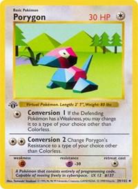 Porygon, Pokemon, Base Set (Shadowless)