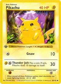 Pikachu, Pokemon, Base Set (Shadowless)