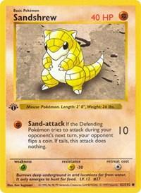 Sandshrew, Pokemon, Base Set (Shadowless)