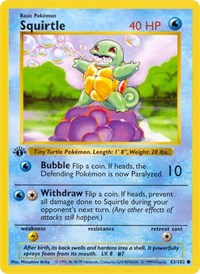 Squirtle, Pokemon, Base Set (Shadowless)