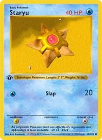 Staryu, Pokemon, Base Set (Shadowless)
