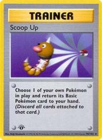 Scoop Up, Pokemon, Base Set (Shadowless)