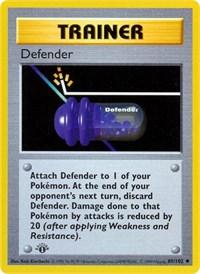 Defender, Pokemon, Base Set (Shadowless)